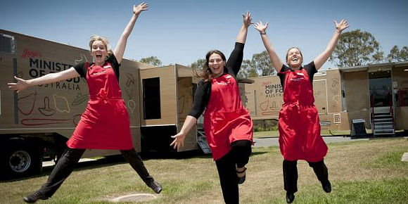 Jamie's Ministry of Food Mobile Kitchen to cook up a storm in Logan